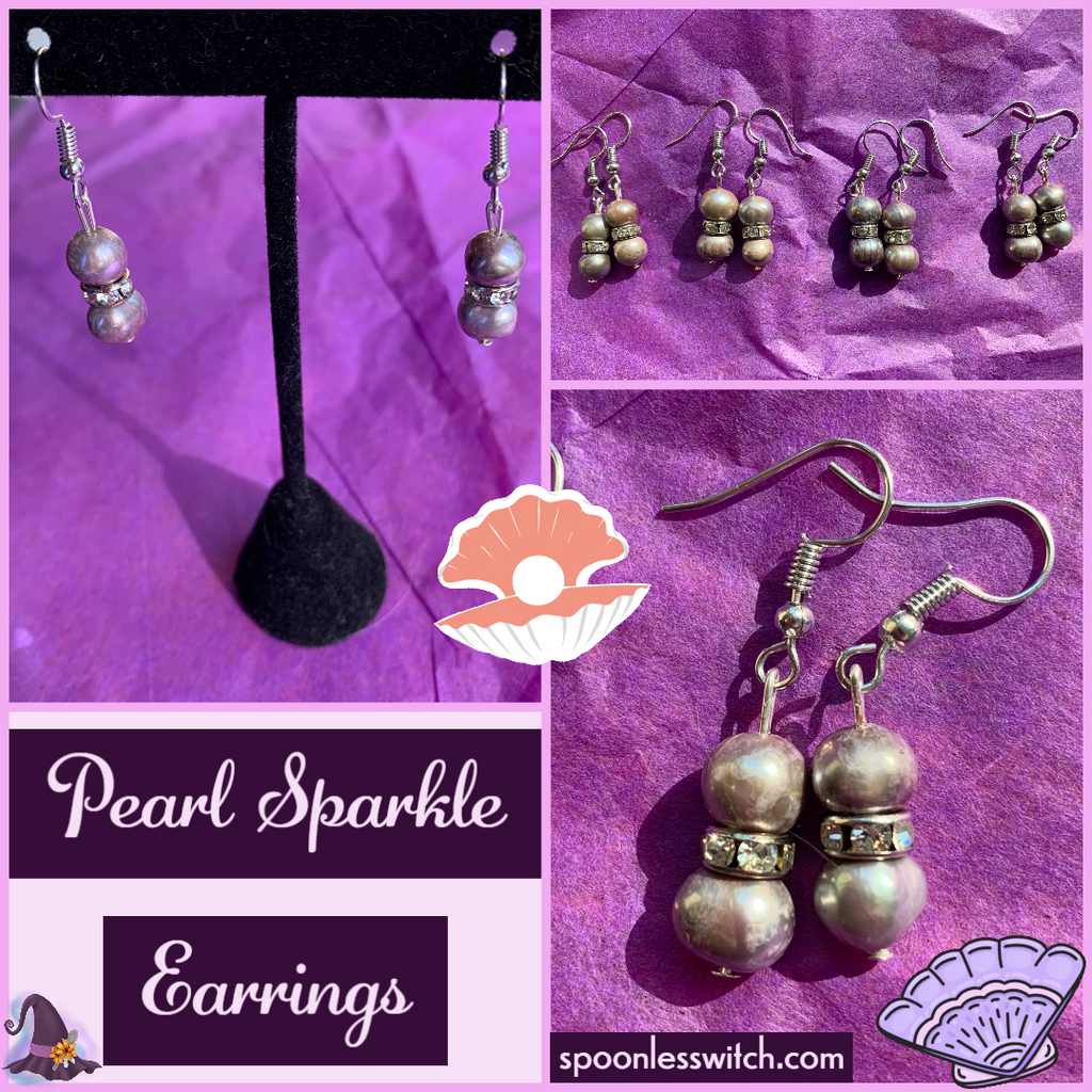Pearl Sparkle Earrings