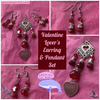 Valentine Lover's Earring & Pendant Set - The Spoonless Witch