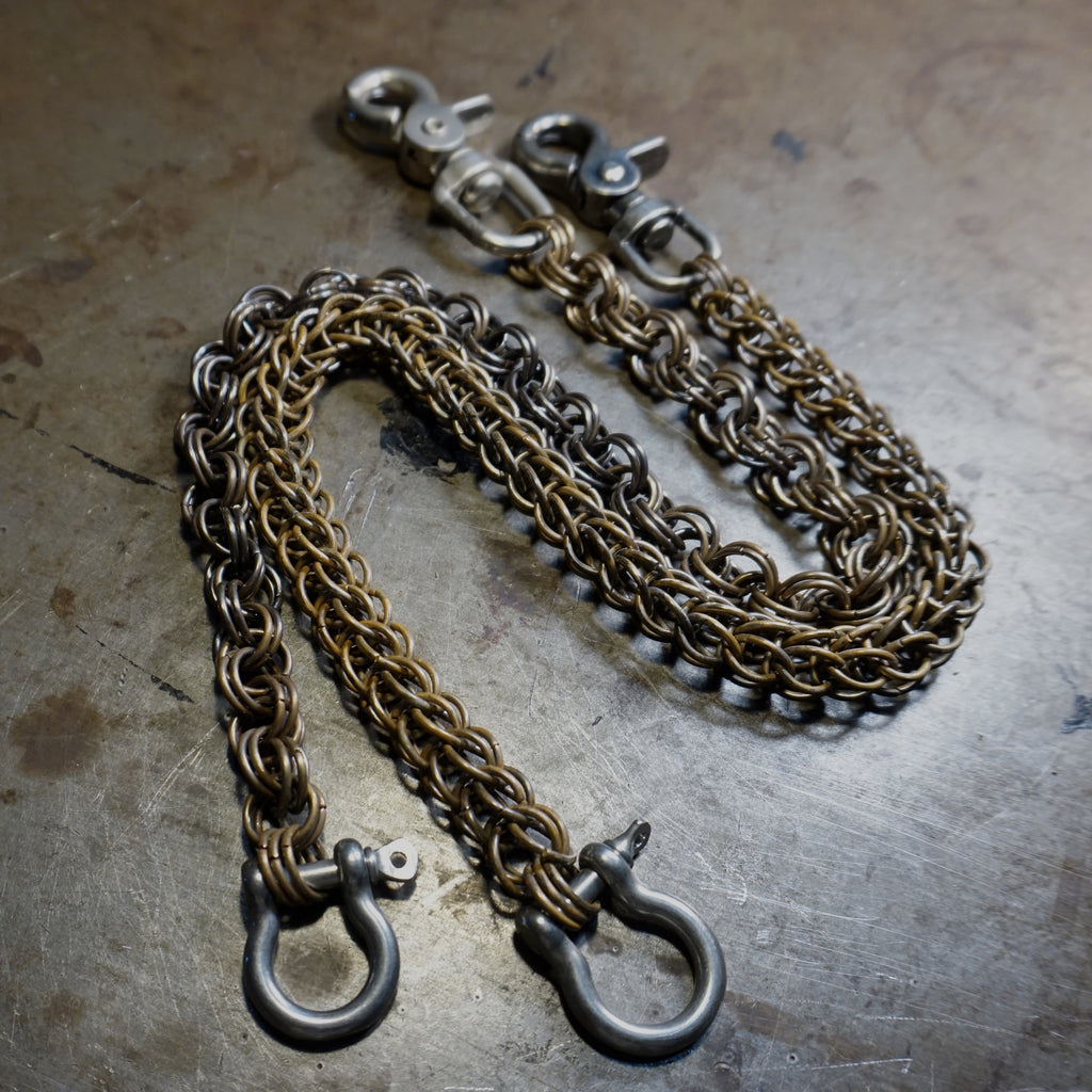 Antiqued Brass Wallet Chain