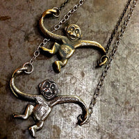 Brass Monkey Necklace - Heyltje Rose Shop