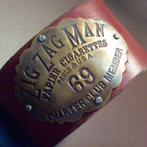 Zig Zag Man Leather Cuff