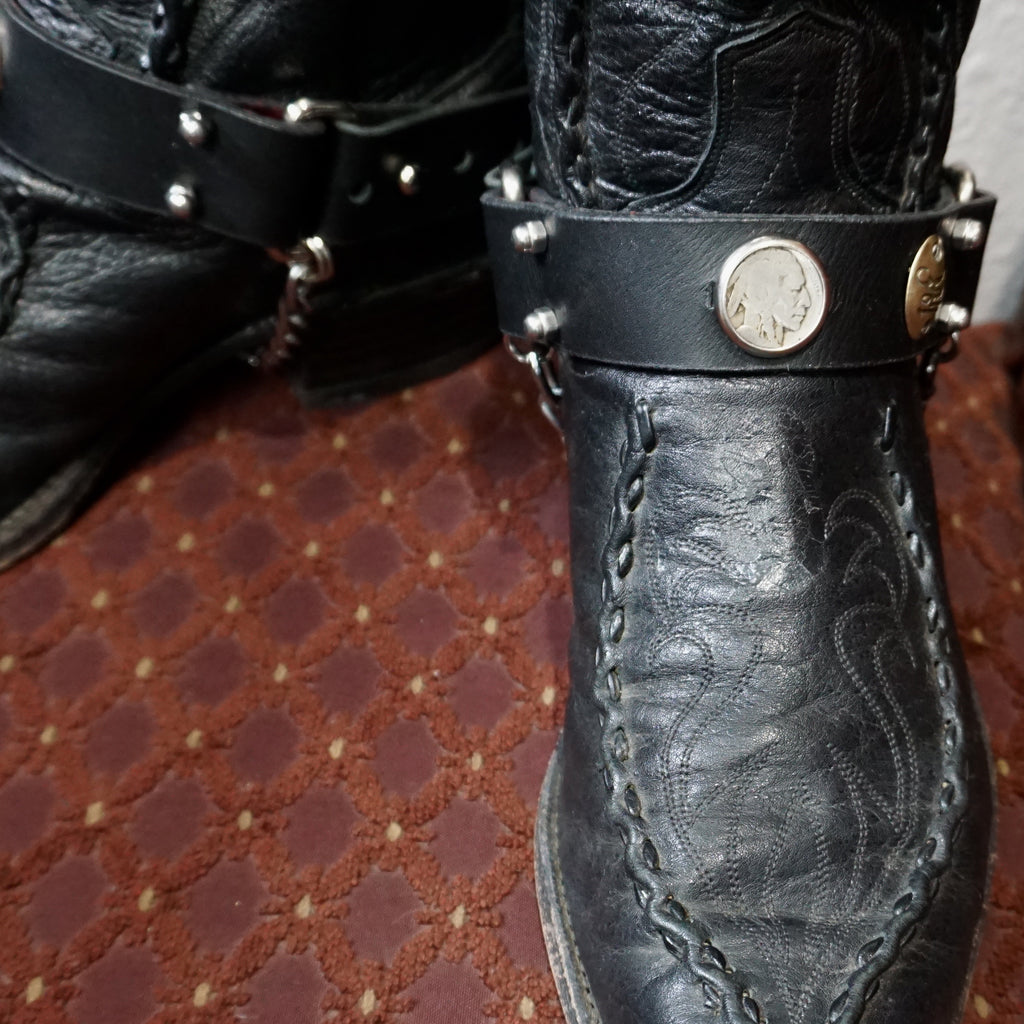 Buffalo Nickel Boot Straps - Heyltje Rose Shop