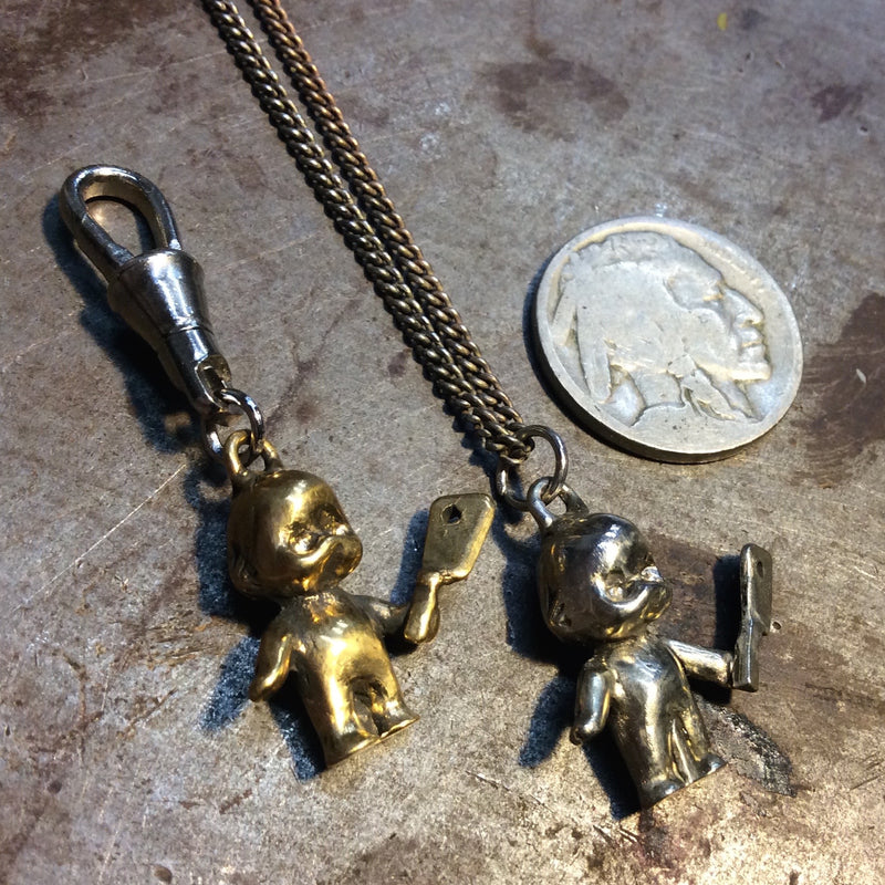 Mini Berserker Butcher Baby Necklace or Zipper Pull