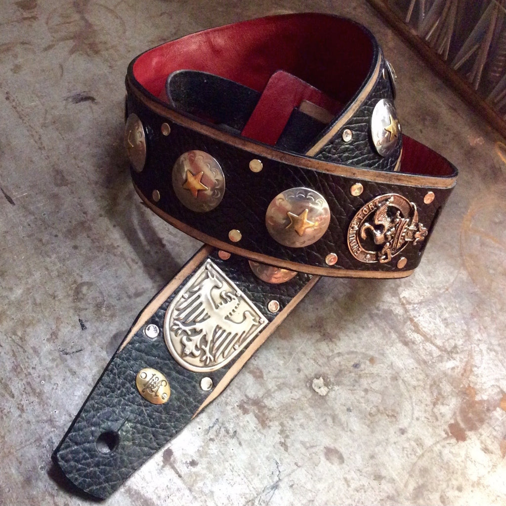 custom-black-leather-guitar-strap-conchos-heyltje-rose-shop