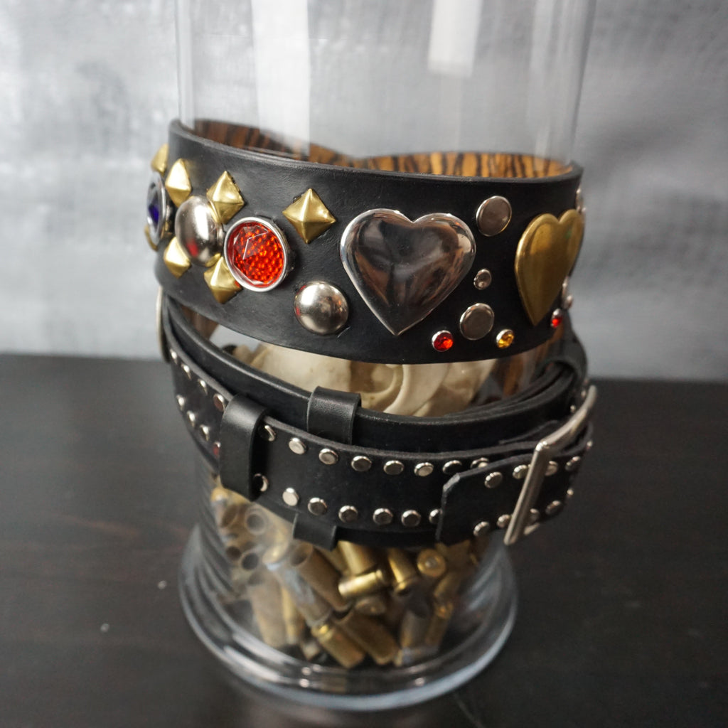 Custom Studded Heart Concho Belt - Heyltje Rose Shop