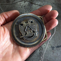Double Headed Eagle Belt Buckle