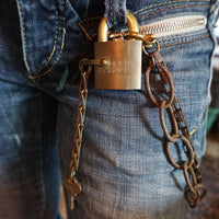 Double Wallet Chain & Vintage Padlock - Heyltje Rose Shop