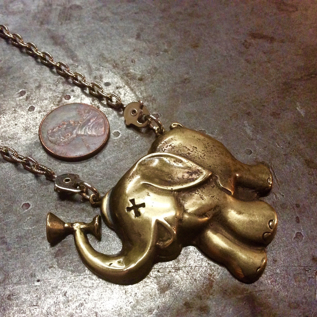 Drunken Elephant Necklace - Heyltje Rose Shop