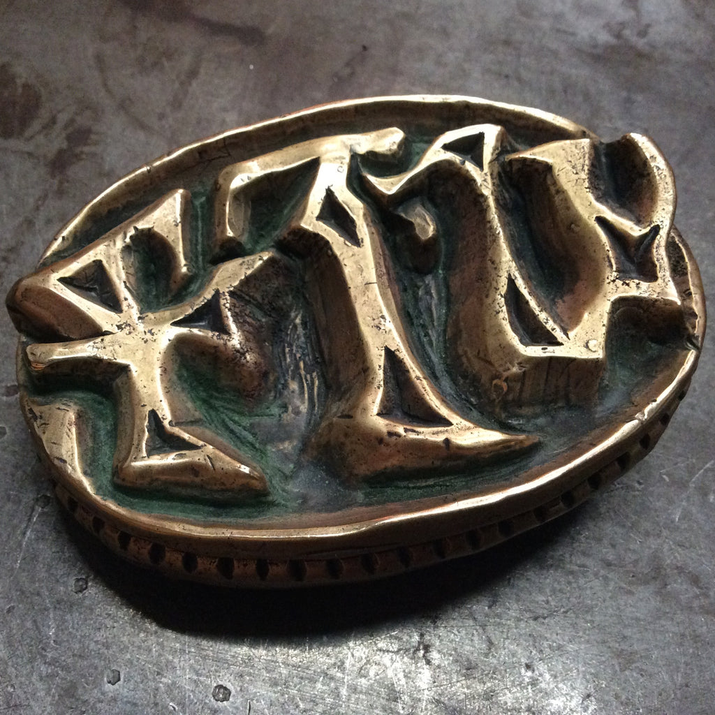 FTW Belt Buckle in Brass - Heyltje Rose Shop