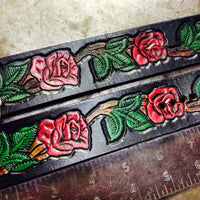 Red Rose Leather Cuff - Heyltje Rose Shop