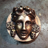 Solid Brass Goddess Belt Buckle - Heyltje Rose Shop