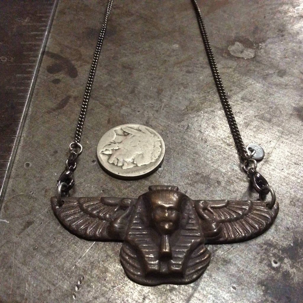 Winged Egyptian Pharoah Necklace