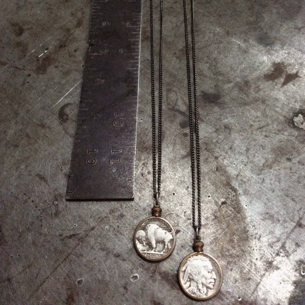 Buffalo Nickel Necklace - Heyltje Rose Shop