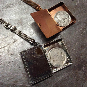 Stash Box Book Locket Necklace