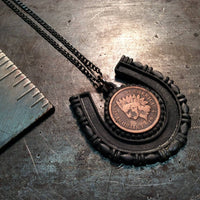 Good Luck Horseshoe Penny Necklace