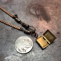 Brass Book Locket Necklace