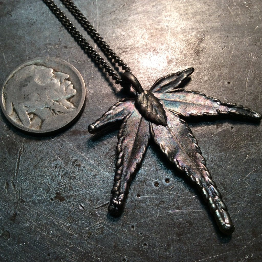 Pot Leaf Necklace