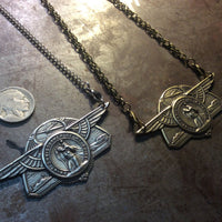 Winged Saint Christopher Necklace