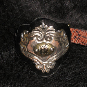 Victorian Black Leather Cuff