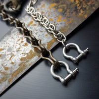 Wallet Chain with Vintage Hardware