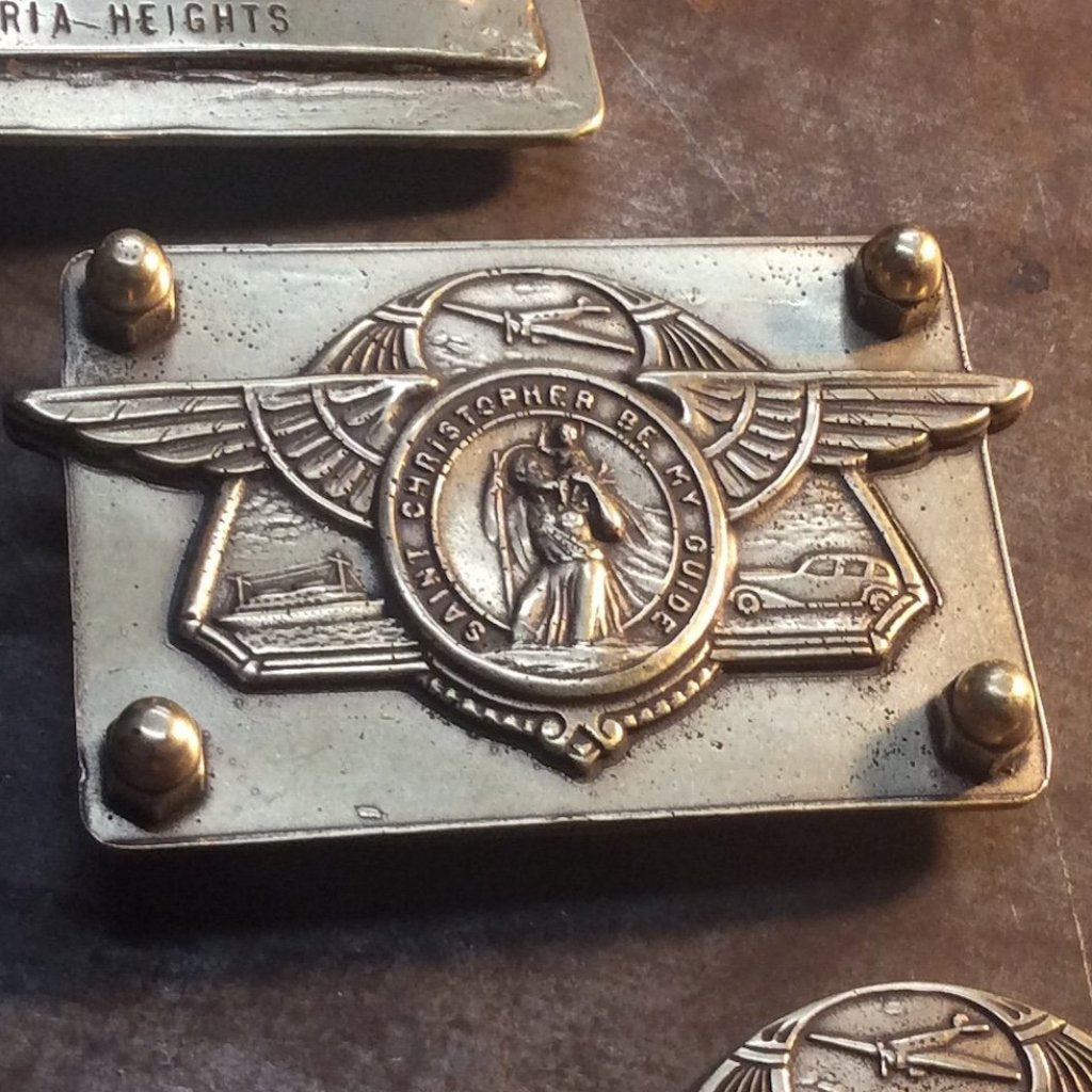 Saint Christopher Wings Belt Buckle
