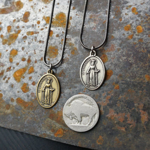 Saint Dymphna Necklace (oval pendant)
