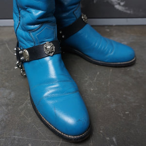 Vintage Justin Boots with Skull Straps