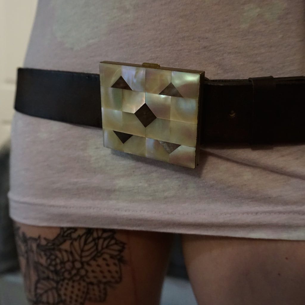 Mother of Pearl Belt Buckle - Heyltje Rose Shop
