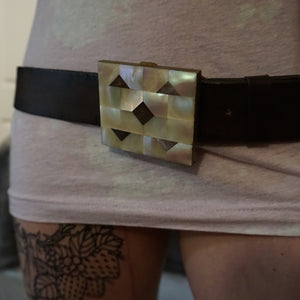 Mother of Pearl Belt Buckle