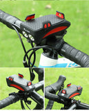 4 in 1 Waterproof Bicycle kit: Phone Holder, Charger, Flashlight and Horn Bell