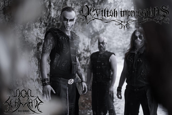 "DEVILISH IMPRESSIONS – sign to Non Serviam Records. New EP ""Postmortem Whispering Crows"" out in Fall 2019"