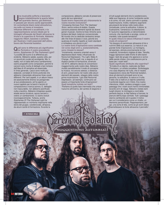 Rock Hard Italy did an interview with Perennial Isolation.