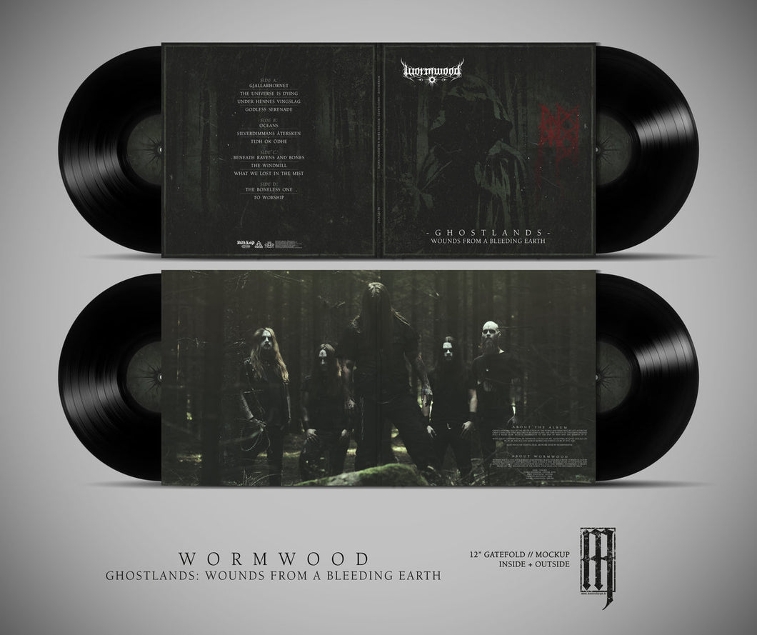 Wormwood - Ghostlands - Wounds from a bleeding earth (Black vinyl)