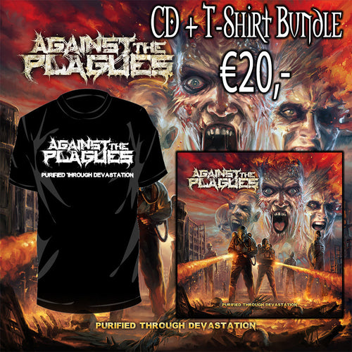 Against The Plagues - Purified Through Devastation (CD + T-shirt bundle)