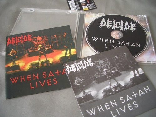 Deicide ‎– When Satan Lives (Japanese pressing)