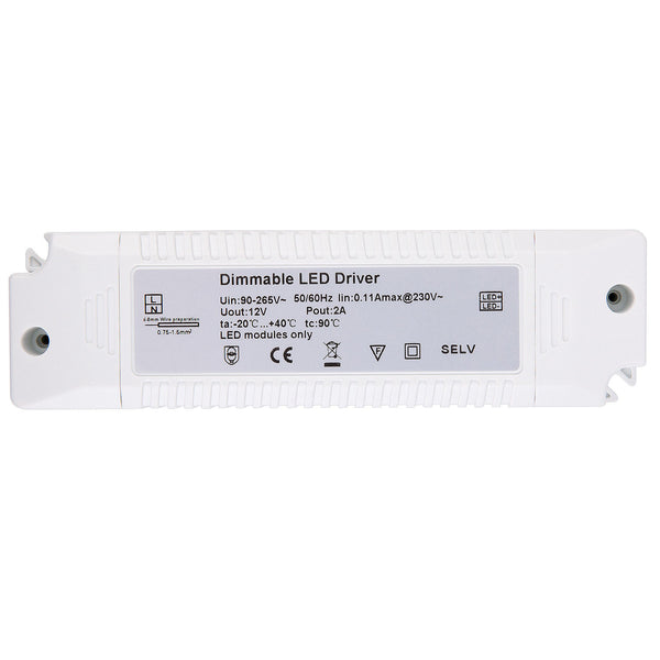 AIBOO Triac Dimmable Isolation LED Driver Power Supply Transformer 90~240V to DC12V Constant Voltage for LED Under Cabinet Lighting Spot Lights