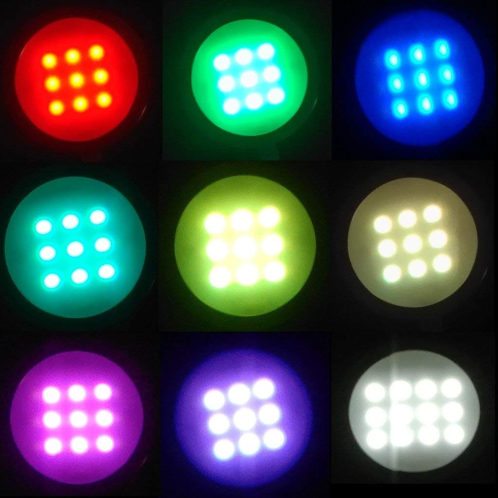 AIBOO RGBW RGB + White / RGBWW RGB + Warm white Color Changing Christmas  Xmas Under Cabinet LED Lights Kit 40-Key IR Remote Puck Lamps for Kitchen  ...