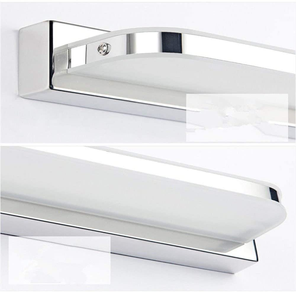 AIBOO LED Mirror Wall Light 7W, Bathroom Mirror Light IP44 Waterproof, Anti-fogging LED Mirror Front Light Stainless Steel & Acrylic Warm White 220V 42CM