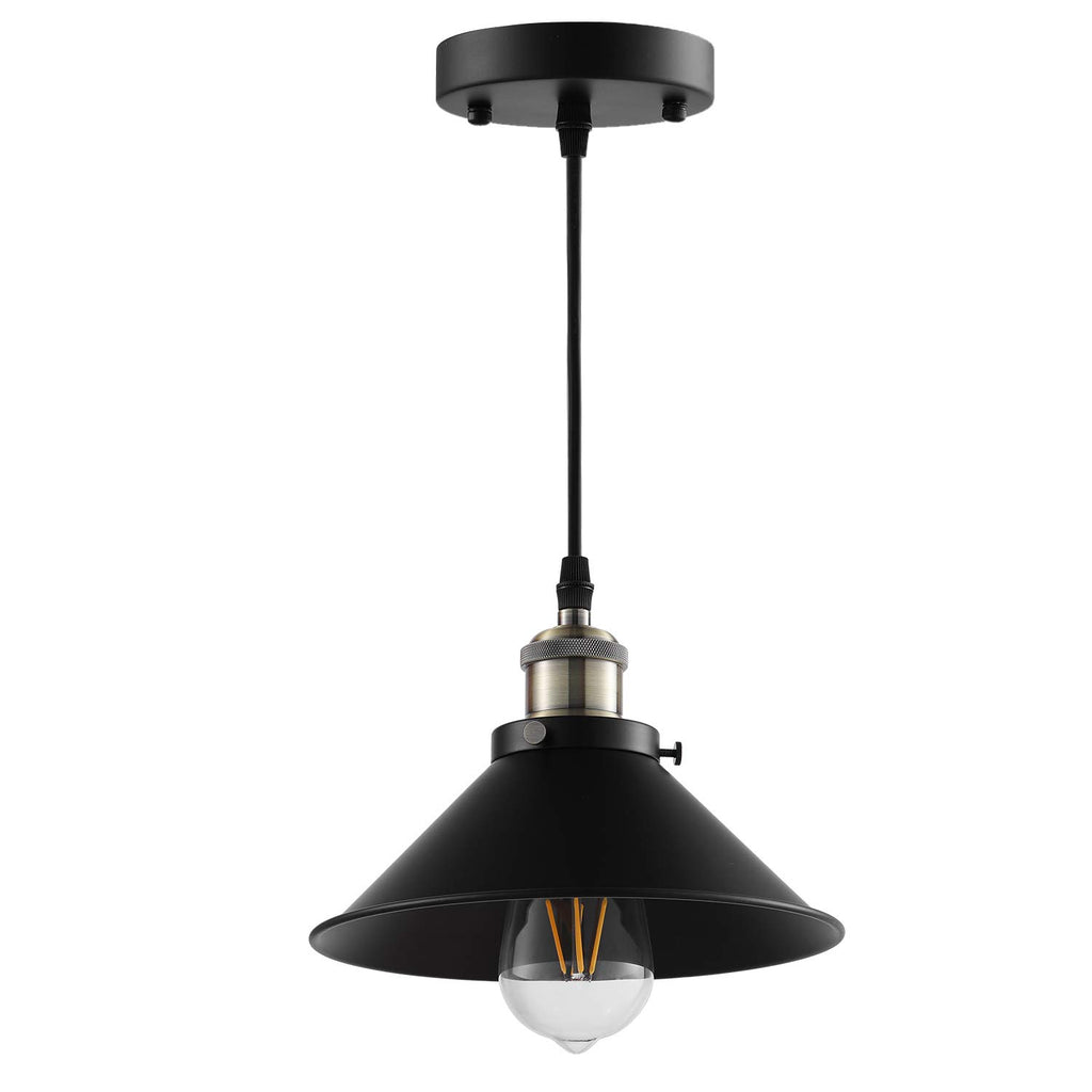 Industrial Pendant Lighting,Vintage Hanging Lamp E26 Base,Bronze and Black Finish, Retro Lighting Fixture 3 Pack (Bulbs not Included)