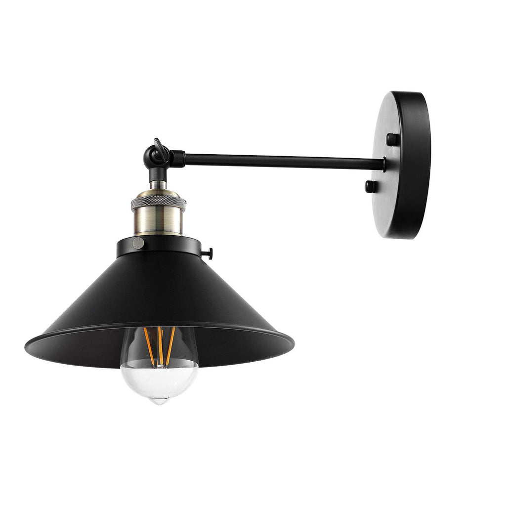AIBOO Wall Sconces Hardwired Industrial Vintage Wall Lamp, Simplicity Bronze and Black Finish Arm Swing Wall Lights Fixture 3 Pack (Bulbs not Included)
