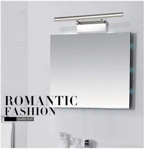 LED Mirror Wall Light, AIBOO Rotatable LED Bathroom Mirror Light with Switch, SMD 5050 LEDs Bath Mirror Lamp Stainless Steel 5W Cool White
