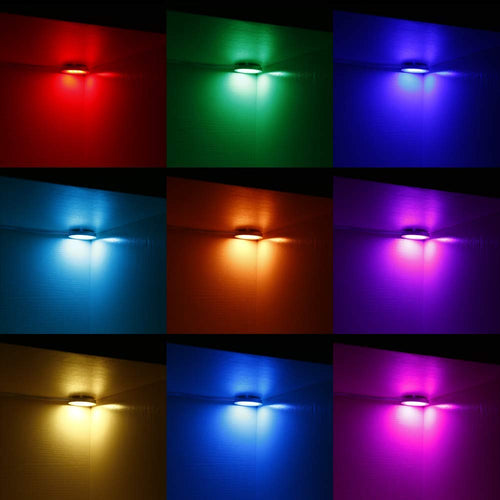 AIBOO RGBWW/RGBW Color Changing Xmas Decorating Under Cabinet LED Lighting Kit Wireless IR Remote Control for Party  Lighting 8 Light 24W