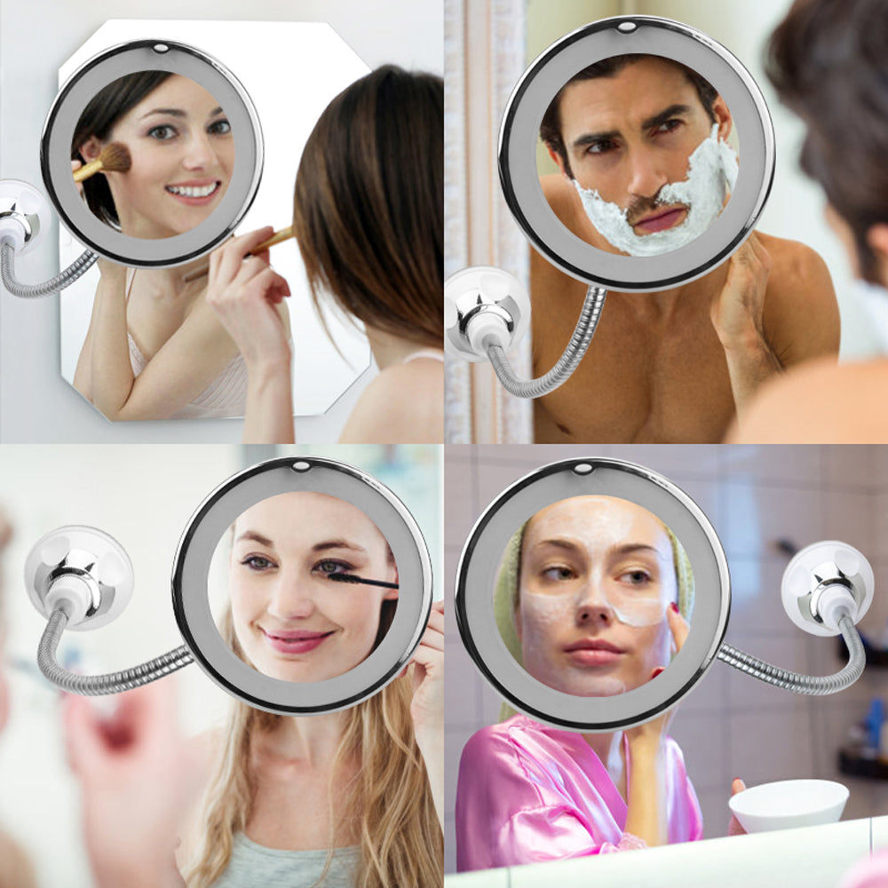 10X Magnifying Mirror makeup Light LED Magnifier Vanity Lamp 360 Degree Rotation Rotating Dressing Table Lighting