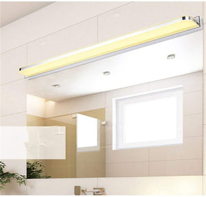 AIBOO LED Mirror Wall Light 3W, Bathroom Mirror Light IP44 Waterproof, Anti-fogging LED Mirror Front Light Stainless Steel & Acrylic Warm White 220V 25CM