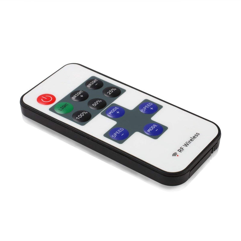 Mini Remote Controller for Single Color AIBOO LED Under Cabinet Lighting, RF Dimmer for 12V DC LED,Wireless Remote Control for Dimmable 3528 5050 Under Cabinet Puck Lights (1 to 1 control)