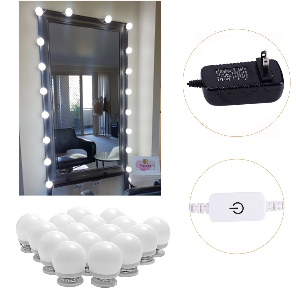 Makeup Mirror Lights (4000K, 16Bulbs, Plug in) Mirror Not Included