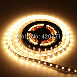 Flexible LED Strip Light 5M Roll 3528 SMD Waterproof 120 LEDs/M 600 LEDs 12vdc Warm White Red 48W 120 Degree For Home Decoration