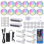 RGBW/RGBWW Color Changing Puck lights, 12 Pack with remote control for Kitchen,Counter,Showcase Decoration
