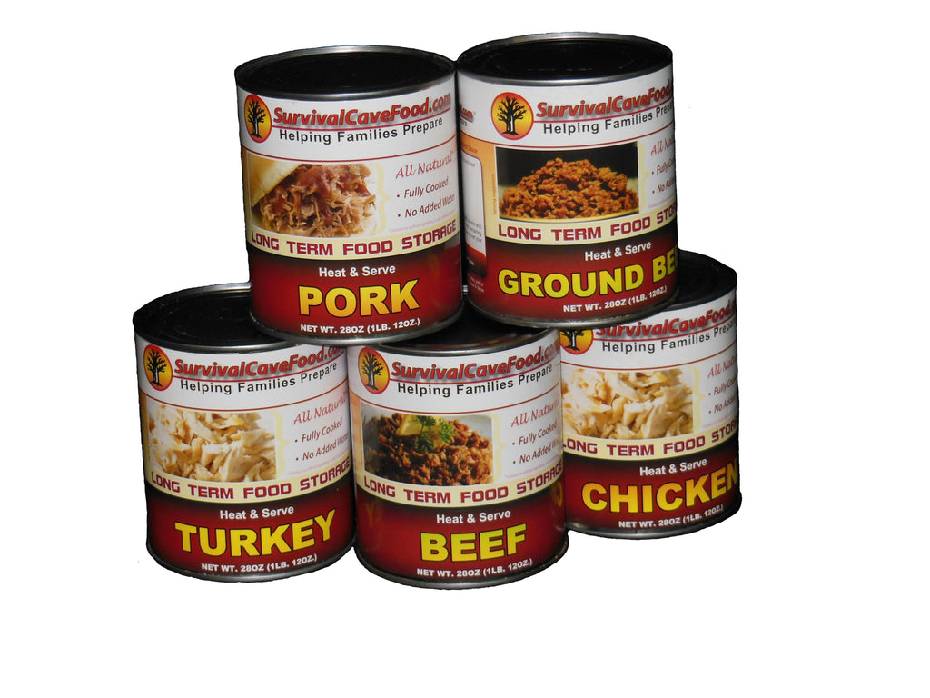 Canned Survival Food Mixed Meat 28oz 12 Can Case