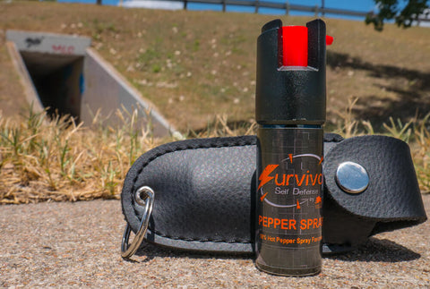 Survivor- 1/2 Ounce Pepper Spray Keychain